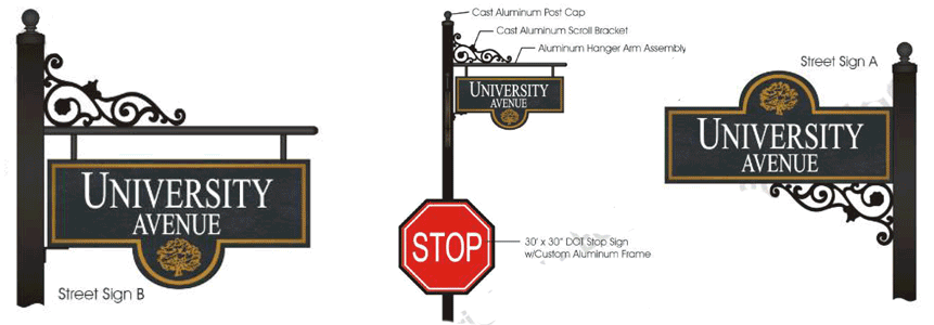 Sample street signs